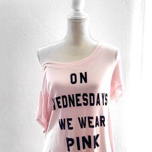 """Mean Girls Tops - NEW! Mean Girls Official """"Wednesdays"""" Pink Shirt"""